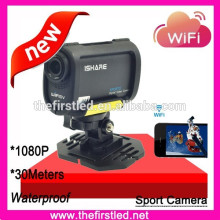 Lastest product waterproof hd 1080p sport camera with 170 degree