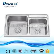 DS8245F filipinas muebles de cocina de acero inoxidable parryware lavabo modelos