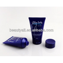 soft cosmetic plastic packaging tube for body lotion with flip-top cap