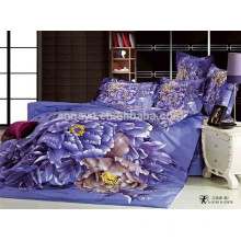 Satin cama cubierta almohada cubierta hoja plana 3D Oriental impresión China fabricante