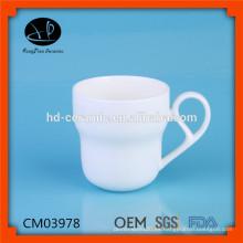 Tazas de cerámica llanas con el logotipo de encargo