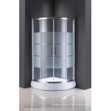 Porta deslizante de vidro simples da casa de banho