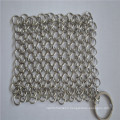 Skillful Manufacture Stainless Steel Mesh Kitchen Chainmail Scrubber