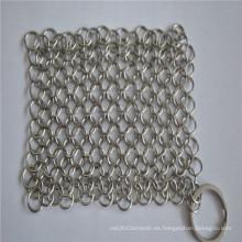 Fregadero durable del Chainmail del rectángulo de la malla del acero inoxidable