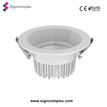 IP40 Dimmable Ugr <19 3/4/6/8 pulgadas COB Downlight LED Lámpara de fundición de aluminio