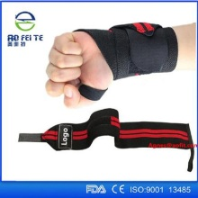 Gym sport custom weightlifting wrist wraps  fitness