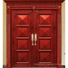 Puerta doble de estilo clásico