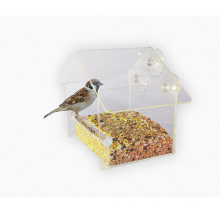 Clear Acrylic Bird Feeder, Suction Window Feeders