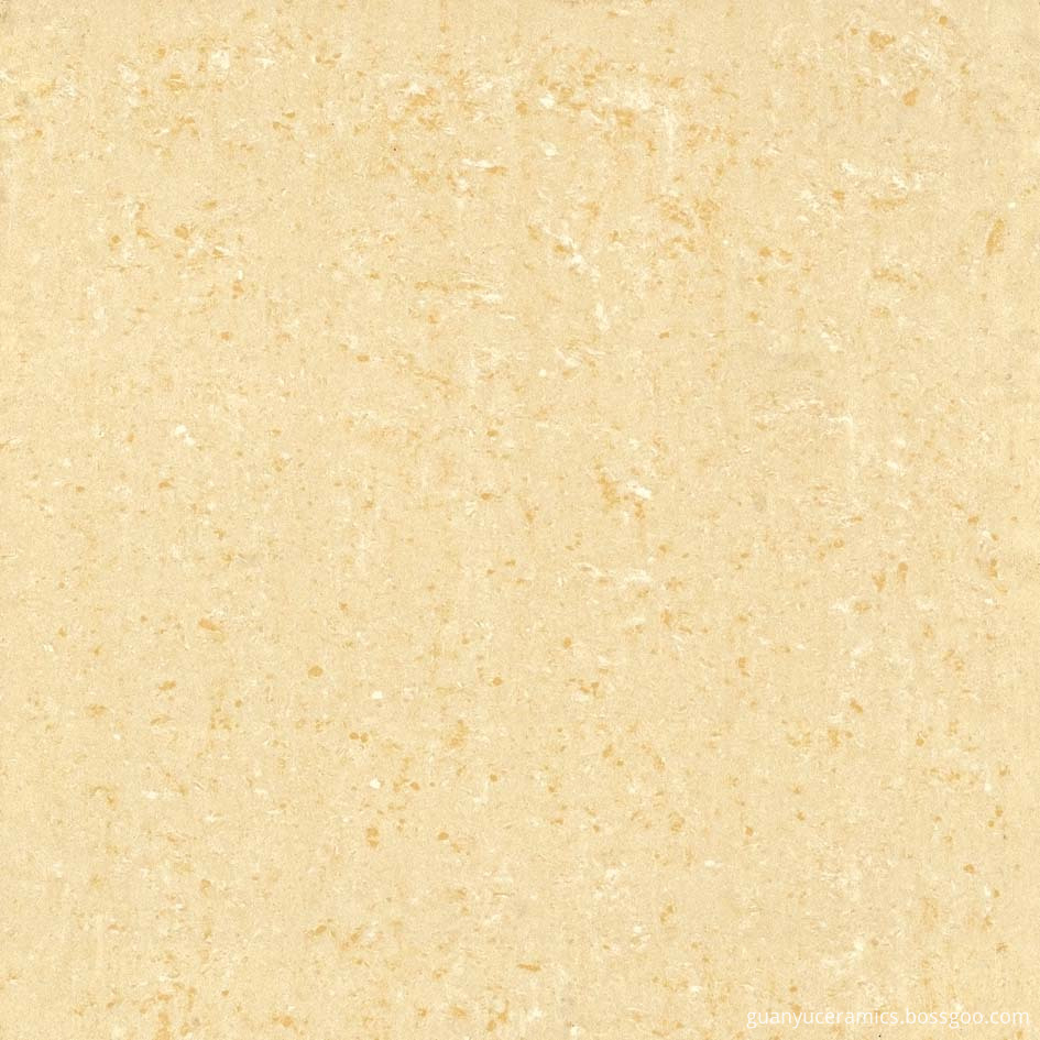 Yellow Double-Loading Polished Porcelain Tile