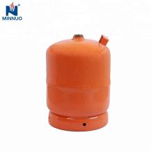 Cilindro de gas del lpg vacío 5kg, tanque de propano, botella de gas