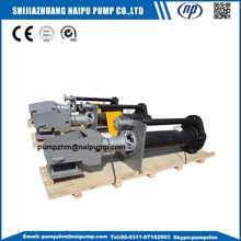Centrifugal Vertical Sump Solids ถังขยะ Slurry ปั๊ม