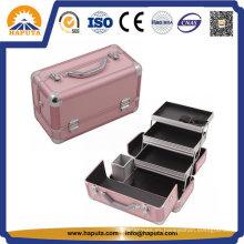Estuche de maquillaje de belleza profesional de aluminio para viajes (HB-2031)
