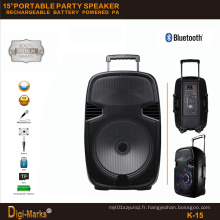 Perfect Trolley Trolley sans fil FM SD USB Bluetooth Powered Speaker