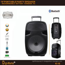 Perfect Trolley Trolley sans fil FM SD USB Bluetooth Powered Speaker