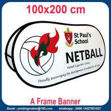 Custom Printed Horizontal Pop Up A Banner Frame