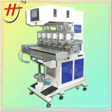Precision China safe casque machine à imprimer tampon de 6 couleurs avec tasse à encre