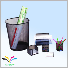 China manufacturer school supply Wholesale stationery office mono files pen holders metal mesh stationery set