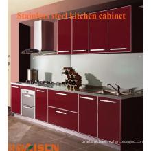 Gabinete de cozinha de aço inoxidável de alta qualidade de alta qualidade da fábrica