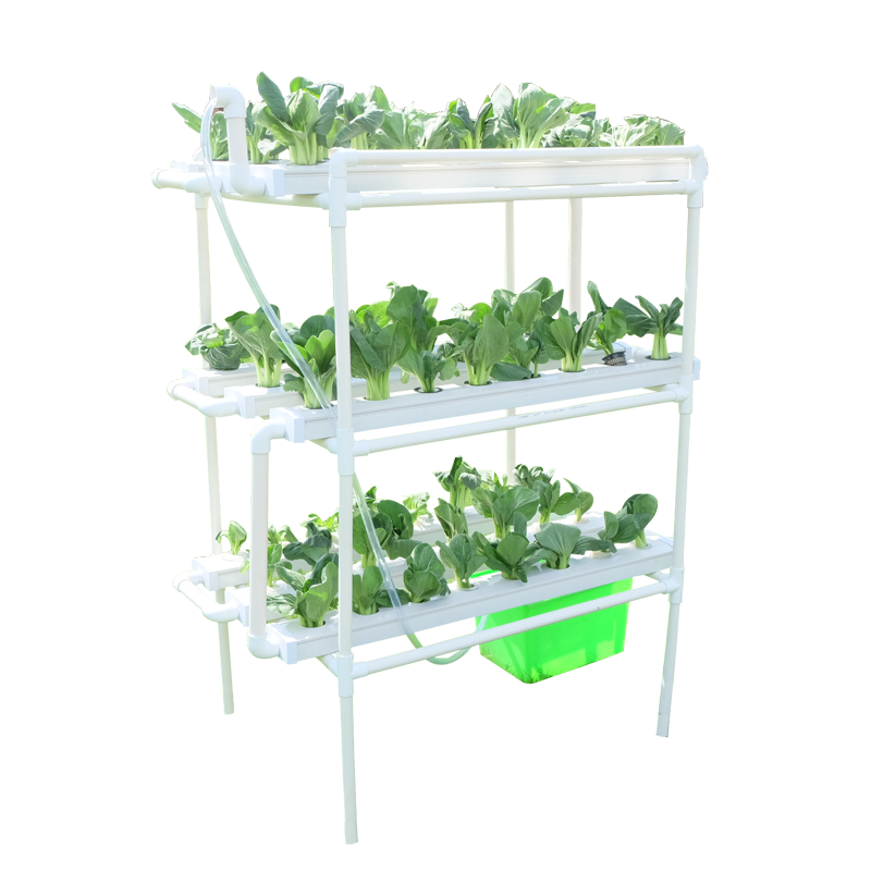 Indoor square pipe 3 layer hydroponic system