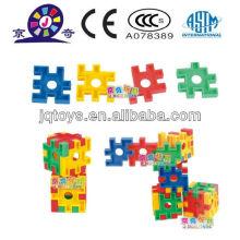Crianças educacionais plástico esclarecer brinquedo bloco