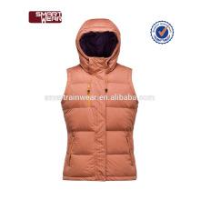 Mujer Down Chaleco Gilet Body Warmer con cuello Hood Chaleco de cuerpo cálido de alta calidad