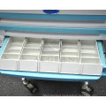 AG-WNT001 emergency cart with drawers approved ABS medical trolley