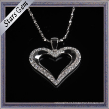Romatic Heart Shape Cubic Zirconia Necklace Fashion Jewellry