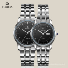 Новый дизайн часы для пары со стальным браслетом из нержавеющей 70008