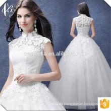 Romantische schicke Ballkleid-Hochzeits-Kleid-Standplatz-Kragen-Brautkleid für Hochzeitsfest 2016