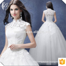 Romantic Chic Ball Gown Wedding Dress Stand Collar Bridal Dress For Wedding Party 2016