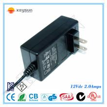 Petite batterie rechargeable 12v 2A adaptateur DC 24watt 100-240v 50-60hz