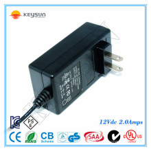 small rechargeable 12v battery 2A 24watt dc adapter 100-240v 50-60hz
