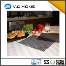 NEW product Hot selling 100% PFOA-free PTFE non-stick grill usage teflon/ fiber glass Material food grade BBQ Grill mat