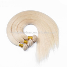 #60 white 25 years experience OEM pure color human hair extensions