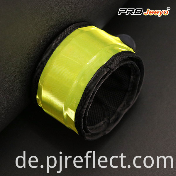 Reflective Safety Fluo Yellow PVC Slap BraceletWB-JG002