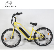 Livelytrip Novo Design 2017 Bicicleta Elétrica 26 Polegada Da Praia Da Bicicleta Elétrica Cruiser