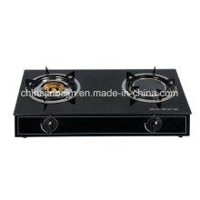 Cuisinière à gaz en laiton et à gaz infrarouge à 2 brûleurs
