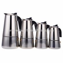 6 tazas de acero inoxidable acelerado 18 8 cafetera italiana