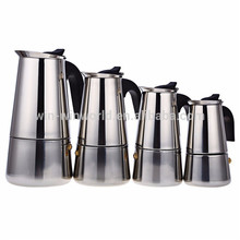 6 Cups Speeded-up Stainless Steel 18 8 Italian Coffee Maker