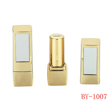 Rectangle Gold Lipstick Tube With Mirror