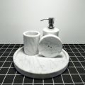 white marble bath cup accessories