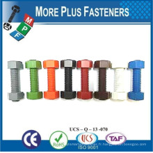 Fabriqué en Taiwan Bracelet en acier inoxydable coloré avec deux écrous hexagonaux pour la tuyauterie à température de pression