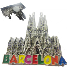 Imán de encargo del refrigerador del metal del recuerdo de las ciudades del mundo