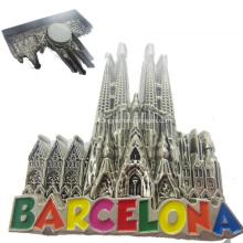 Aimant fait sur commande en métal de souvenir de villes du monde