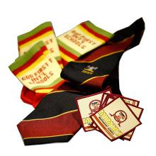Custom school logo uniform woven badge school tie school sock