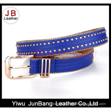 Fashion Women PU Belt with Imitation Pearl in Belt Edge