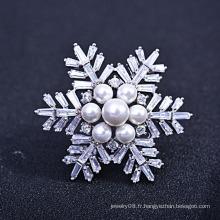 Faire cadeau de broche de la fête des mères, nouvelle broche à la mode de zircon et de perles d'eau douce