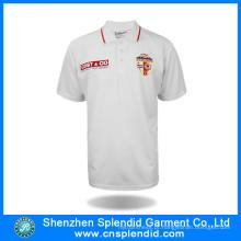 Camisa de manga curta de bordado de manga curta personalizada para homens