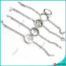Wholesale Factory Price Floating Locket Bracelet (LB16041201)