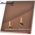 Alunewall best sale Stainless steel and Aluminium composite panel with max 2 meter width